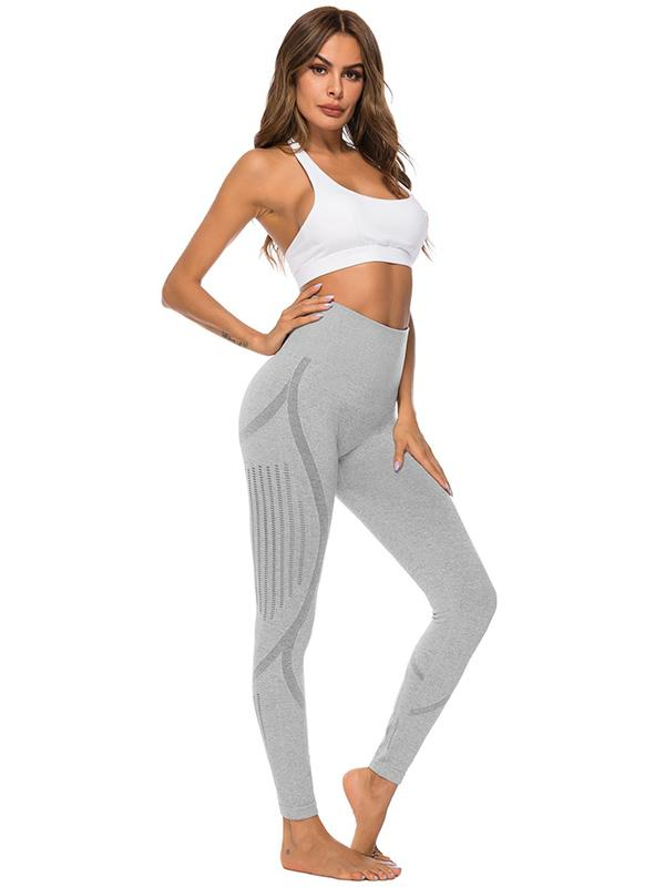 High Waist Perforated Yoga Leggings