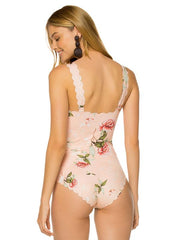 Floral Padded One-piece Swimwear