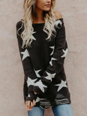 Casual Star Pullover Sweater