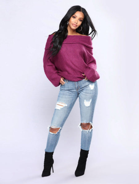 Candy-colored Loose Sweater