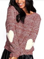 Cute Round Neck Pullover Sweater