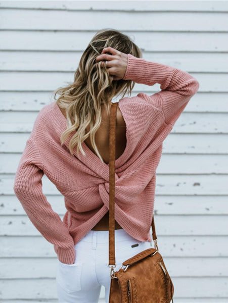 Sweet Round Neck Pullover Sweater
