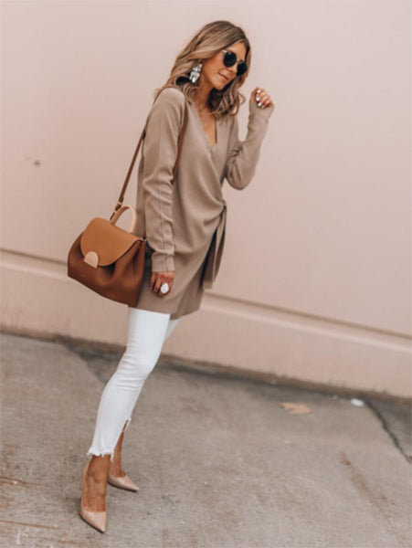 Elegant OL V-neck Sweater