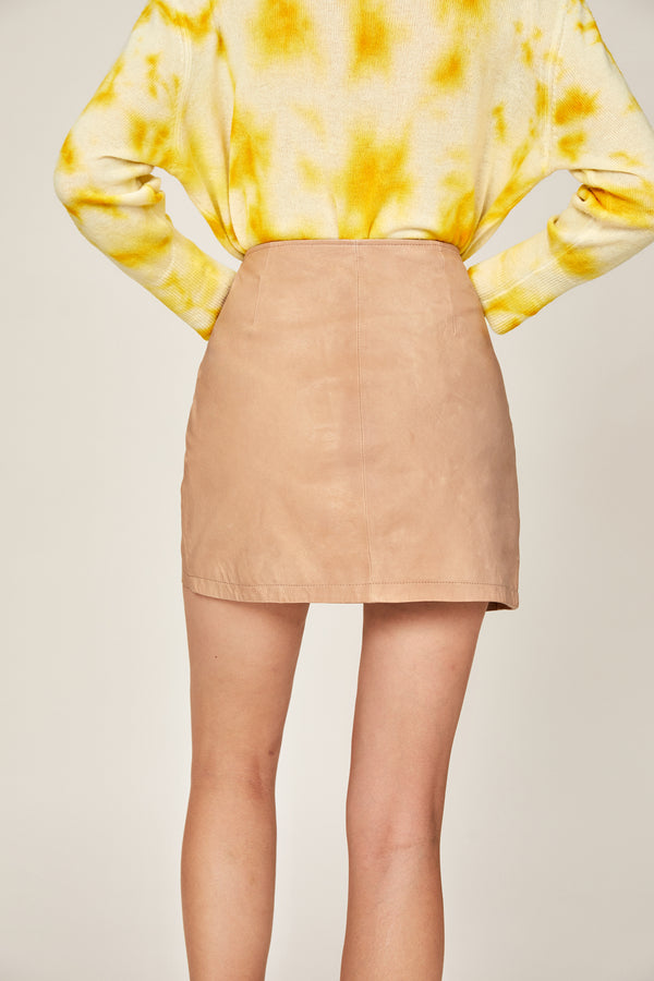 Jary Leather Skirt