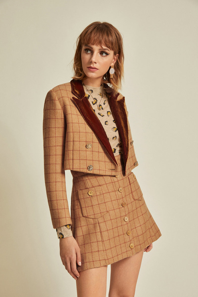 Marisa Blazer & Skirt Set