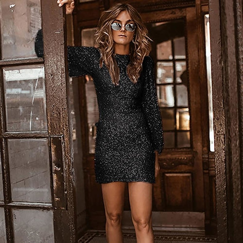 Shining Sequin Mini Dress