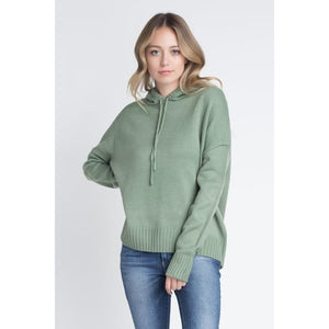 Knit Pullover Hooded Sweater