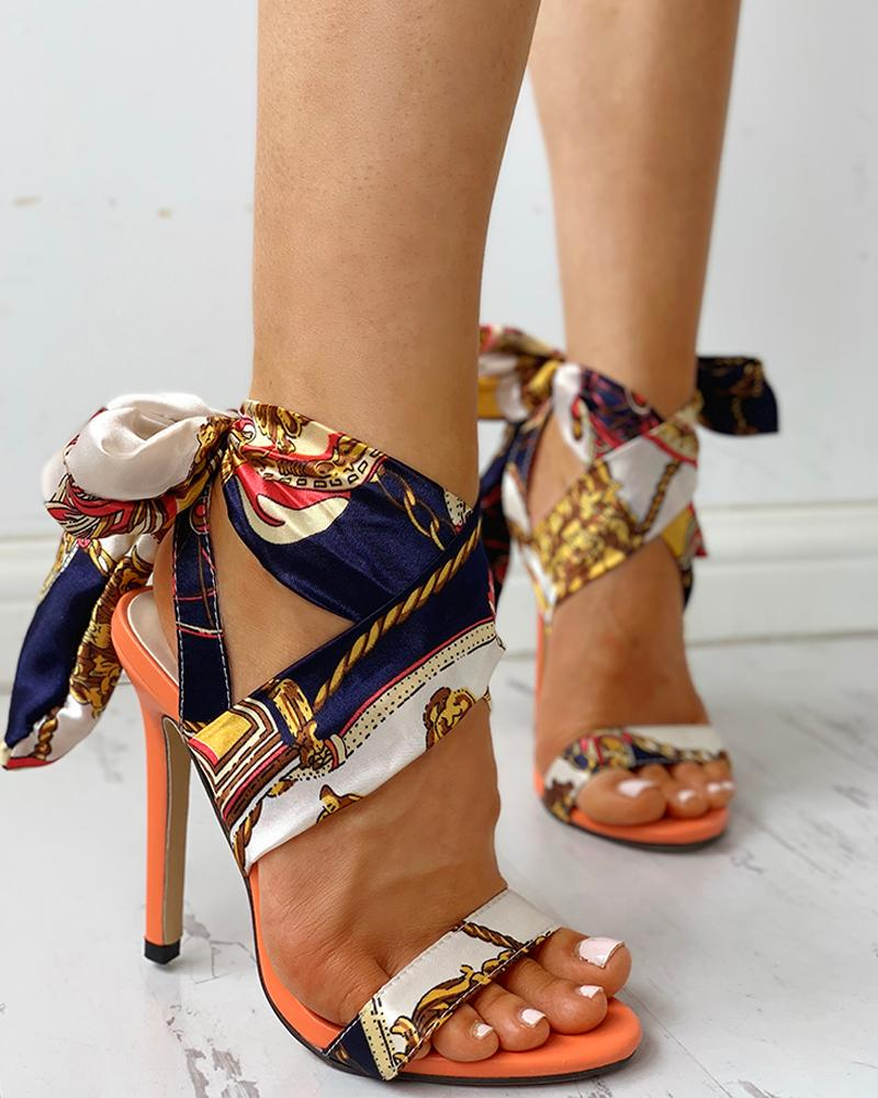 Gladiator Tie Up Heel
