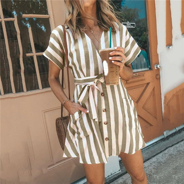 Thea Striped Summer Dress