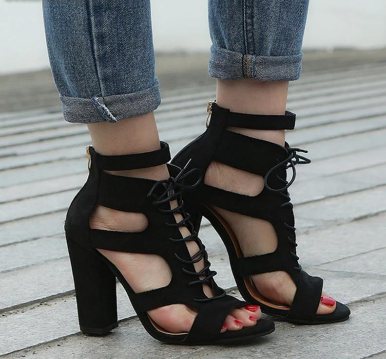 Raven Lace Up Heel