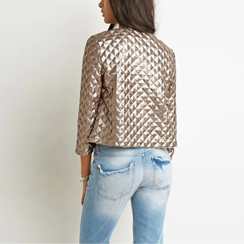 Gold Crop Jacket