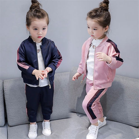 Girls Two Piece Tracksuit