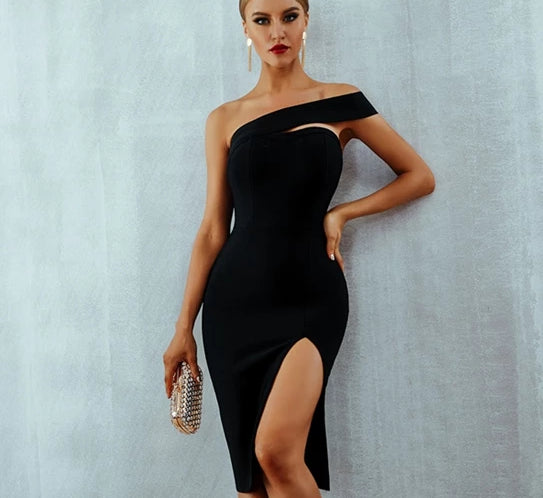 Vera One Shoulder Evening Dress