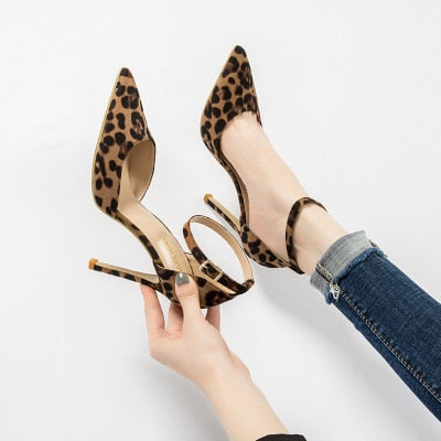 Luxury Leopard Pointed Toe Sandal