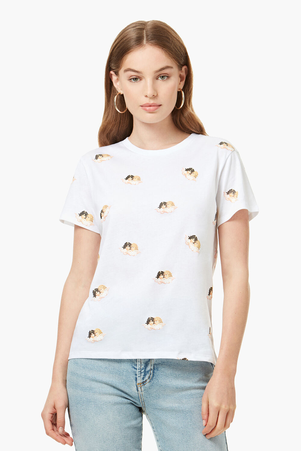ALL OVER ANGELS T-SHIRT WHITE