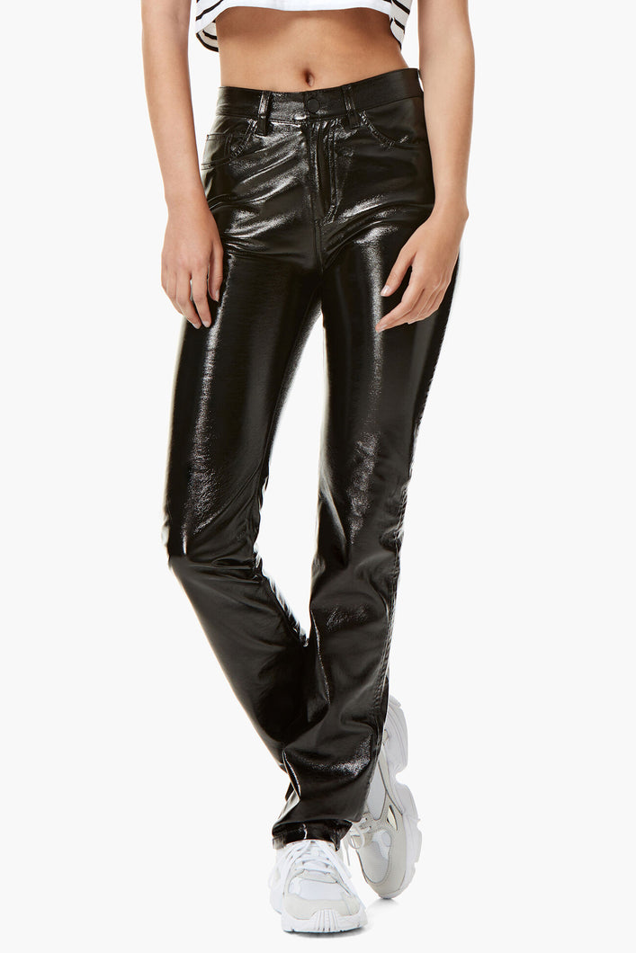 YVON VINYL TROUSERS BLACK