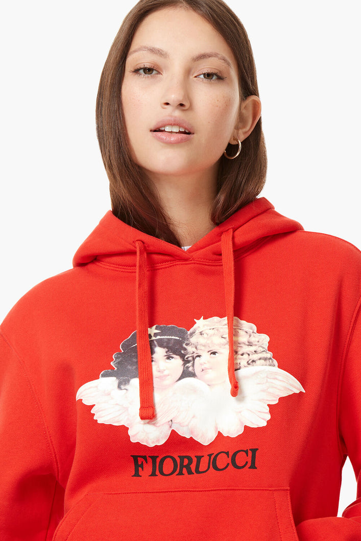 VINTAGE ANGELS HOODIE BLOOD RED