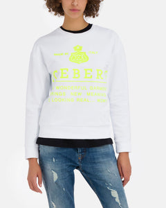 Iceberg sweatshirt with text