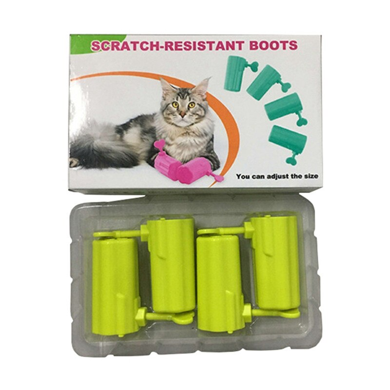 4 Pcs Anti-Scratch Paw Shoes for Cat
