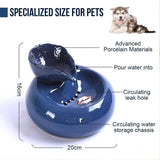 Ceramic pet automatic circulation drinking fountain