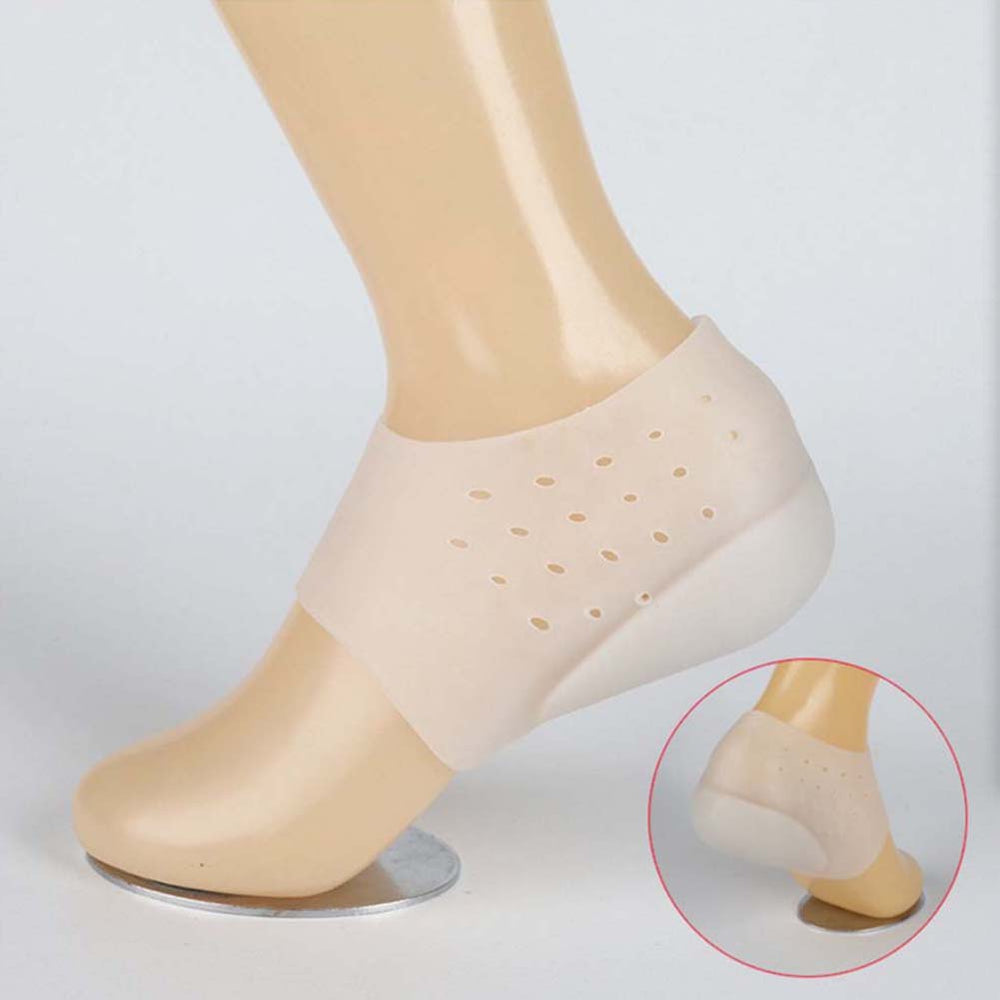 Solid Silicone Insoles Hard-Wearing Insoles For The Feet Unisex Invisible Height Increase Socks Anti-Slippery Heel Pads Hot