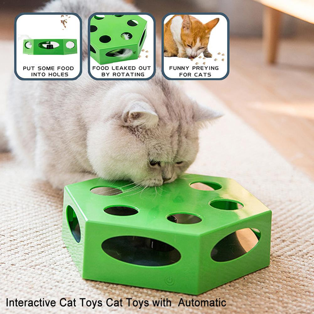 Cat Toy Automatic Hexagonal Electric Cat Rotary Table