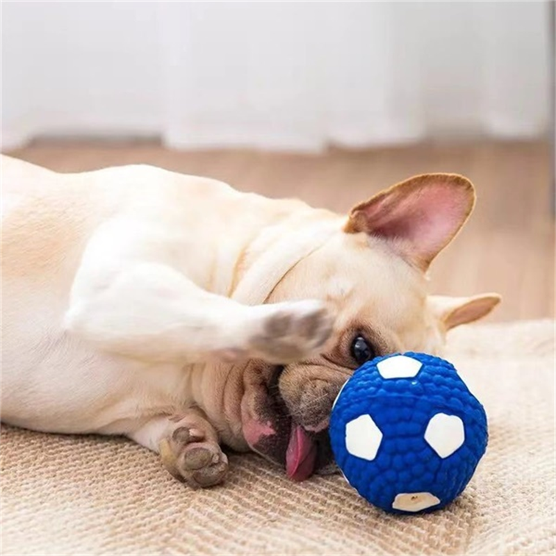 Latex Squeaky Teeth Cleaning Toy for Dog