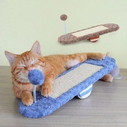 (Get Free Leather Toy) Cat Seesaw Scratch & Play Toy
