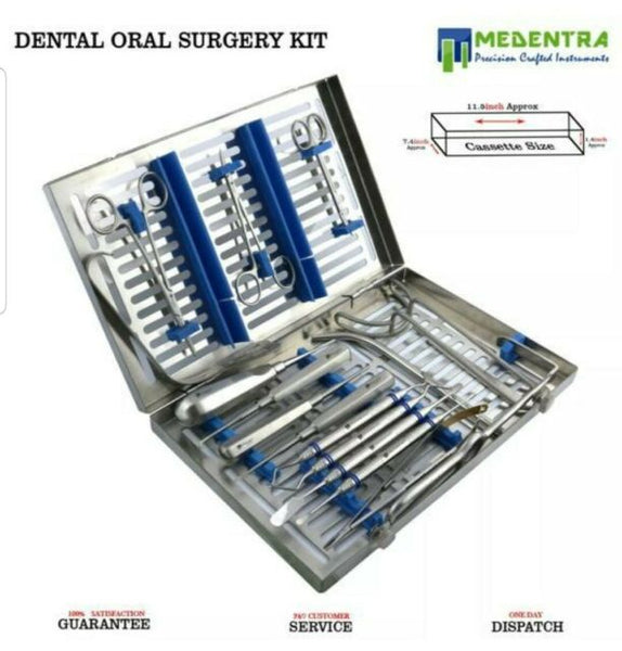 17 PCS MEDENTRA ADVANCED ORAL DENTAL SURGERY SURGICAL INSTRUMENTS SET