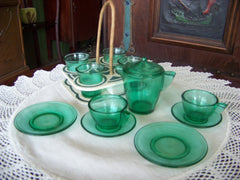 Green Child's Tea Set