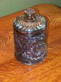 Imperial Purple Hobstar Covered Jar