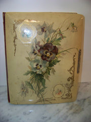 Vintage Photo Album with Floral Cover