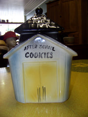 USA American Bisque School House Cookie Jar
