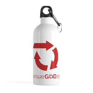 Red Circle Logo Stainless Steel Water Bottle