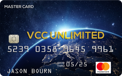 RELOADABLE $300.00 MasterCard VCC