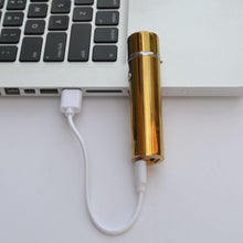 Load image into Gallery viewer, Ion Electrode Dual Arc Lighter - Metallic Gold-Insponaire
