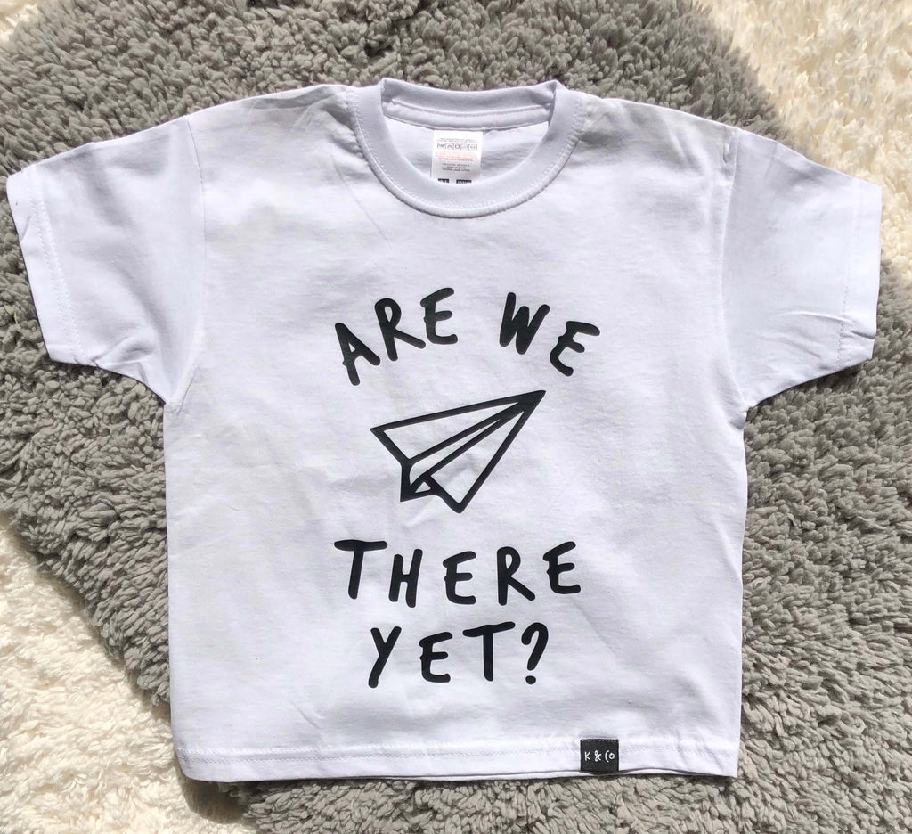 Are We There Yet Graphic Tee - White