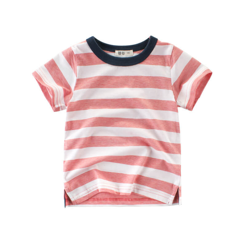 White&Pink Striped Tee