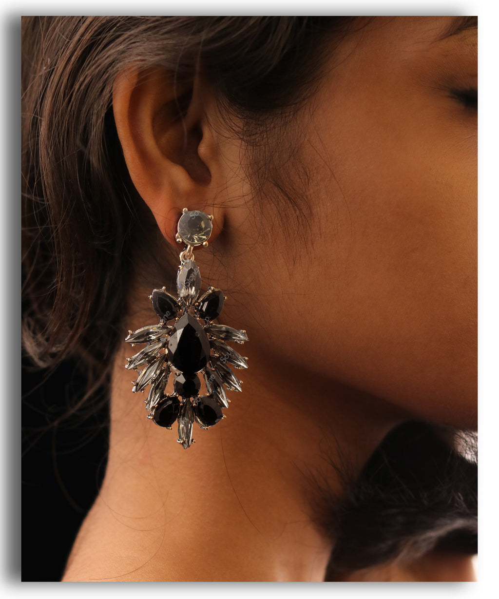 Black Spike Earring