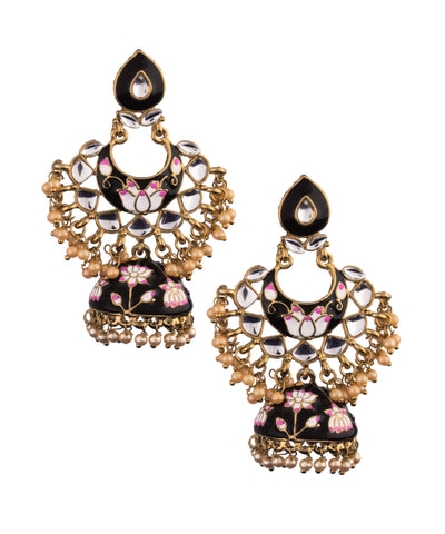 Black Crescent Jhumka