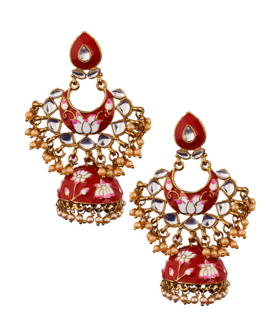 Red Crescent Jhumka