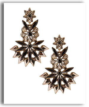 Black Spiked Drop Earring