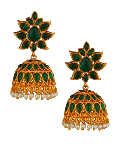 Green Temple Jhumka