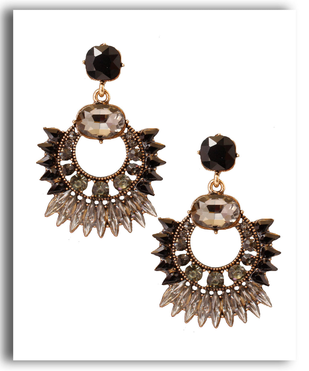 Crystal Black Chandbali
