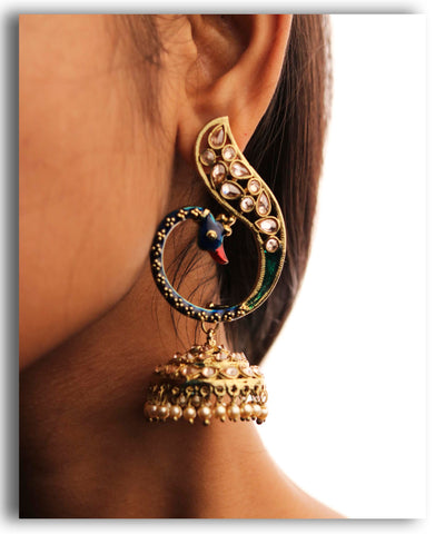Long Peacock Jhumka