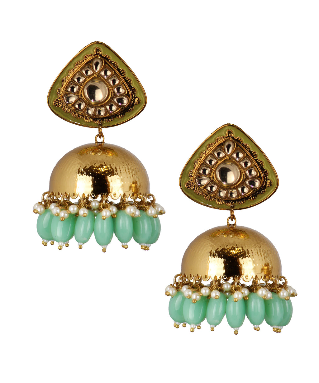 Triangle Lightgreen Jhumka