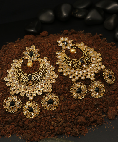 Floral Chandbali Earring