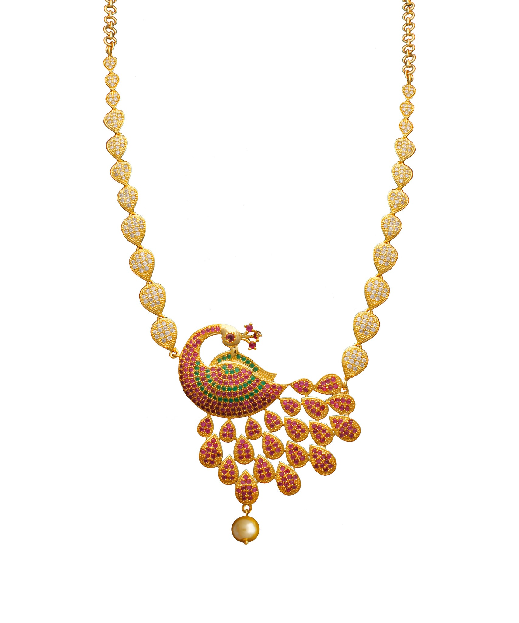 Teardrop Peacock Necklace