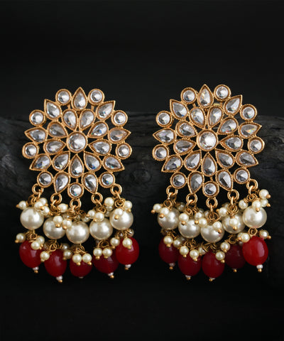 Kundan Pearl Dangle Beads