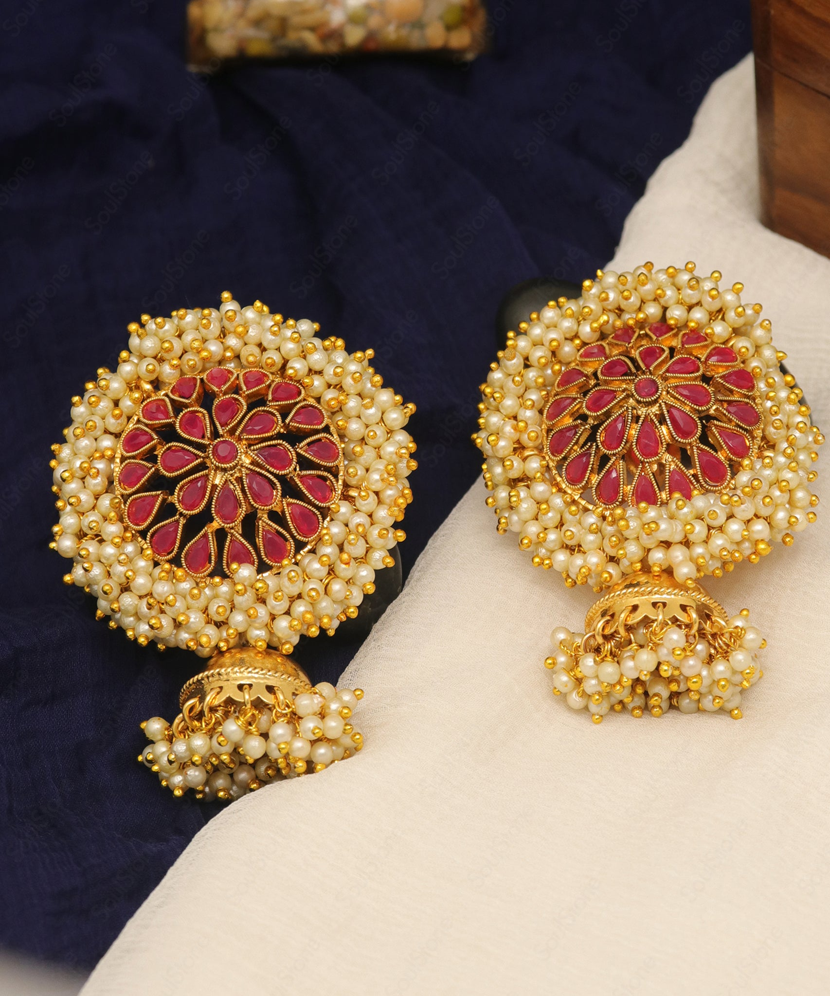 Traditional Pearl Jhumka